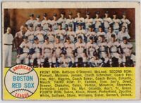 1958 Topps #312 Red Sox Team Low Grade Marked Ted Williams Sisler FREE SHIPPING