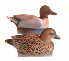 FULLY FLOCKED Green Wing Teal Floating Duck Decoys 12 NEW!