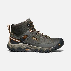 Original KEEN Men's Targhee III Waterproof Hiking Boots - BLACK OLIVE 1017787