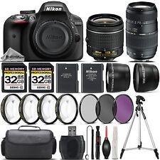 Nikon D3300 DSLR Camera with 18-55mm VR Lens + 70-300 Lens + 64GB Bundle Kit