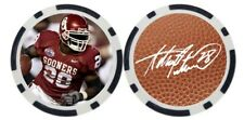 ADRIAN PETERSON / OKLAHOMA SOONERS - GOLF BALL MARKER/POKER CHIP ***SIGNED***