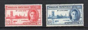 Somaliland Protectorate - 1946, Victory (sg117-118) Mint