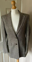 Marks & Spencers Itallian Fabric Wool Blazer Jacket Uk 10 New Herringbone