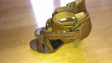 Marks and Spencer Synthetic Leather Block Mid Heel (1.5-3 in.) Women's Shoes