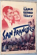 AFFICHE FILM SAN FRANCISCO CLARK GABLE JEANETTE MACDONALD SPENCER TRACY c1936-40