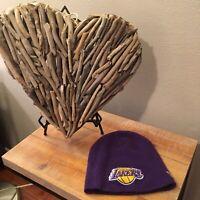 NEW ERA Los Angeles Lakers NBA Purple Gold Winter Ski Hat One Size