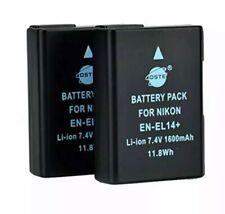 DSTE 2x Full Coded EN-EL14  Li-ion Batteries for Nikon DF D3100 D3200 Plus More