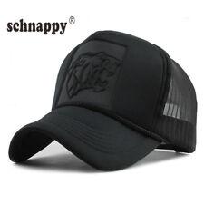 2018 Summer Mens Women Black Print Leopard Mesh Baseball Caps Curved Hip Hop Hat