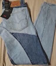 RARE! Levis Lo-Ball Stack Patchwork Denim Premium Jeans Big E sz 36 nwt NEW