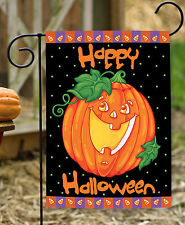 NEW Toland - Happy Halloween - Autumn Fall Pumpkin Candy Corn Garden Flag