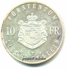LIECHTENSTEIN 10 FRANCS 1990 HANS ADAM II MONETA ARGENTO PROOF