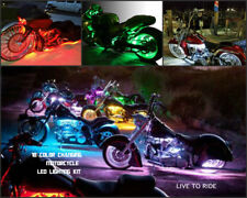 8pc Wireless Remote 18 Color Led Road Star Motorcycle Led Neon Strip Light Kit