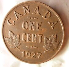 1927 CANADA CENT - AU with RED - FREE SHIPPING - HV43