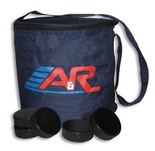 New A&R Ice Hockey Canvas Team Puck Carry Bag Hold 50 Pucks w/ Shoulder Strap
