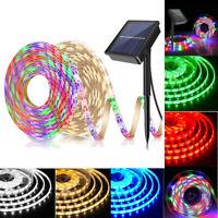 Solarbetriebene Lichtleiste SMD 2835 Flexible Beleuchtung Farbband LED-Streifen