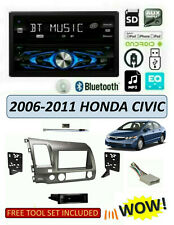 Fits 2006-2011 HONDA CIVIC Stereo Kit, DUAL DXDM228BT CD Digital Media Receiver