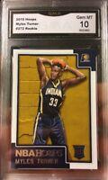 2015 Panini NBA Hoops Myles Turner Rookie Card Gem Mint 10 Indiana Pacers Star