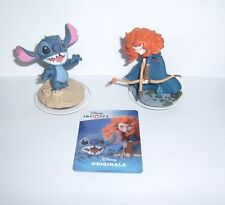 DISNEY INFINITY 2.0 Originals Brave Merida & Stitch Character Figure W Card New