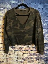 Lucky Brand Camouflage Crop Sweater Size Large Rare Only 1 On Free Ship🔥cute🔥