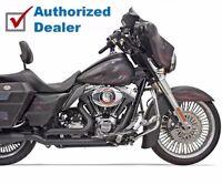 """2/"""" Inch LAF L.A.F Black Y Down Draft Drag Pipes Exhaust 71-84 Harley Shovelhead"""