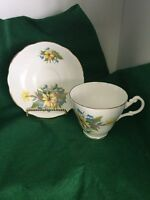 vintage Royal Ascot bone china tea cup & saucer  Floral England