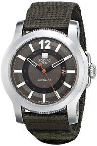 Zodiac Jet-O-Matic Stainless Nylon Strap Men's Watch ZMX ZO9101 - NEW!