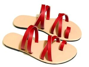 Women Cross Strap Snap Sandals Open Toe Flat Flip Flop Non Slip New Summer Shoes