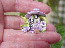 Ooak Fairy/Hobbit/Elf/Gnome House Home Handmade Miniature Clay Flower Teapot