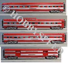 """LIONEL TEXAS SPECIAL 21"""" STREAMLINED PASSENGER CAR 4 PK o gauge train 6-82574"""