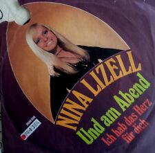 """7"""" 1973 RARE FINGER MINT-! NINA LIZELL : Und am Abend"""