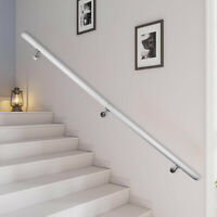 Aluminum Indoor Handrail for Stairs 6ft Length White PERFECT AFTERSALES SERVICE