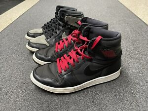 Air Jordan 1 Retro Black Satin Gym Red and Camo 3M Shadow Size 9 Pre-owned