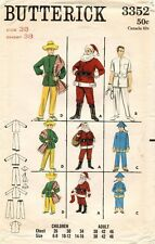 50's Butterick Adult Santa,Oriental,Mexican,Doctors'Costume Pattern 3352  38 UNC