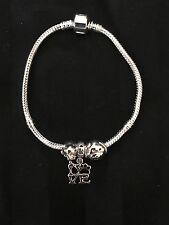 Sterling Silver I Love My Pet/ Dog Bracelet