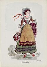 # COSTUMI REGIONALI- Illustratore CALDERINI -  LOMBARDIA