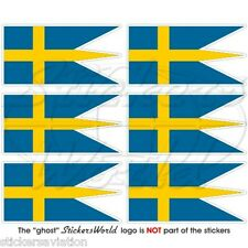 SWEDEN War Flag SWEDISH Naval Ensign Mobile Cell Phone Mini Stickers, Decals x6