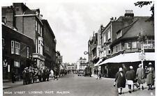 Maldon High Street unused sepia RP old postcard