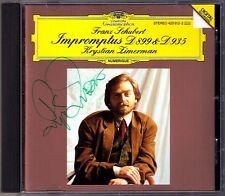 Krystian ZIMERMAN Signiert SCHUBERT 8 Impromptus D.899 Op.90 & D.935 Op.142 CD