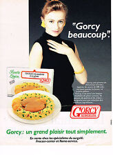 PUBLICITE ADVERTISING 054  1988   GORCY   surgelés  filet de porc à la mandarine