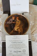 Knowles Plate - Rockwell's Rediscovered Women - Confiding in the Den - COA