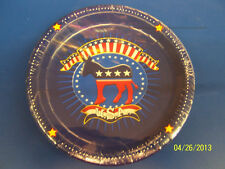 "Election Time Democrat USA Political Red Blue Democratic Party 7"" Dessert Plates"