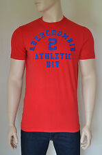 New abercrombie & fitch saranac lake athletic inspiré rouge tee t-shirt l