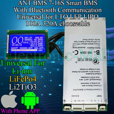 ANT BMS 7-16S LiFePo4 Lipo li-ion Lithium Blueteeth Smart Cells Protection BMS