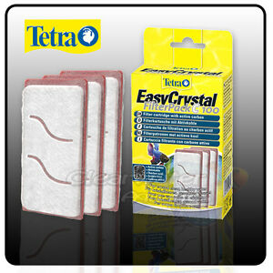 TETRA EASY CRYSTAL FILTER PACK C100 GLOBE CHARCOAL CARBON CARTRIDGE 3 PACK