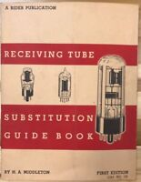 RECEIVING TUBE SUBSTITUTION GUIDE BOOK  by H A Middleton (1953) 228-page SC book