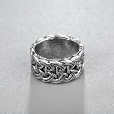 Norse Viking Men Ring Scandinavian Norse Jewelry Punk Style Silver Big Rings
