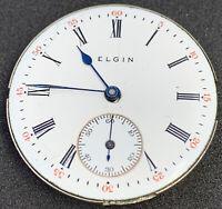 Elgin Grade 323 Pocket Watch Movement 0s 11j Model 2 Hunter Ticks Stops F4875