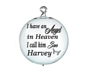 X1 PERSONALISED Vinyl Decal i have an angel in ' memory memorial For Bauble
