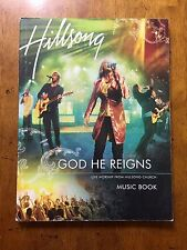 "Hillsong ""God He Reigns"" live worship music song book 189 pages"