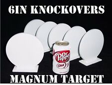 Steel Shooting Target-6 Inch Diameter Round Knockovers-Action Pistol Plates6pcs